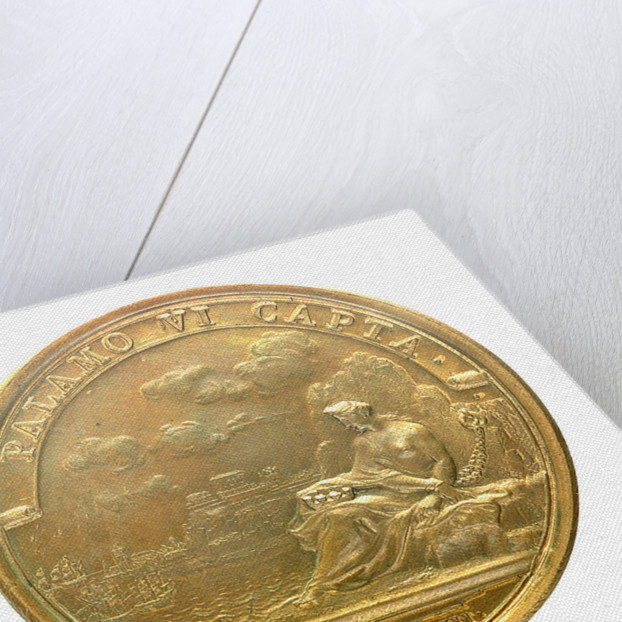 Medal commemorating the capture of Palamos, 1694; reverse by J. Mauger