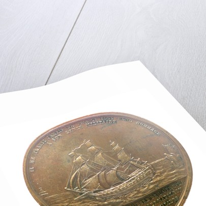 Medal commemorating the translation of the body of Napoleon from St Helena to Les Invalides, 1840; reverse by Emile Rogat