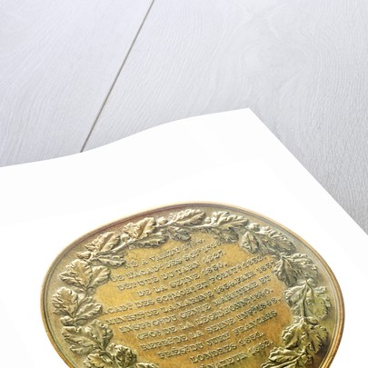 Medal commemorating Baron Francois Pierre Charles Dupin (1784-1873); reverse by A. Bovy