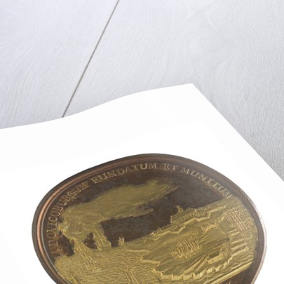 Medal commemorating Louisburg founded and fortified, 1720; reverse by J. Duvivier