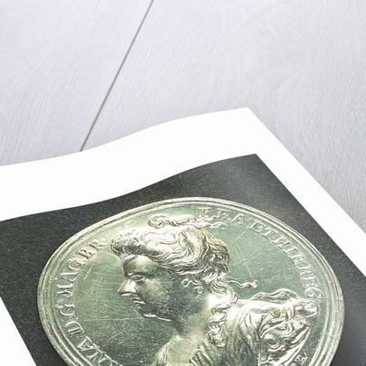 Medal commemorating Barcelona relieved, 1706; obverse by J. Croker