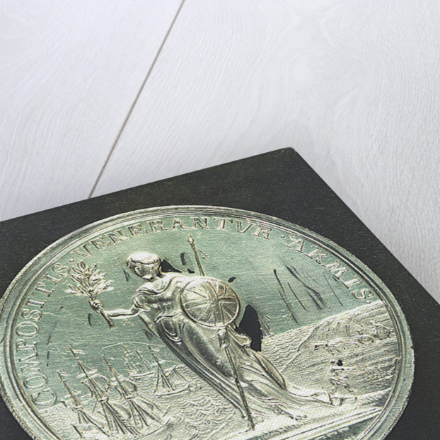 Medal commemorating the Peace of Utrecht, 1713; reverse by J. Croker