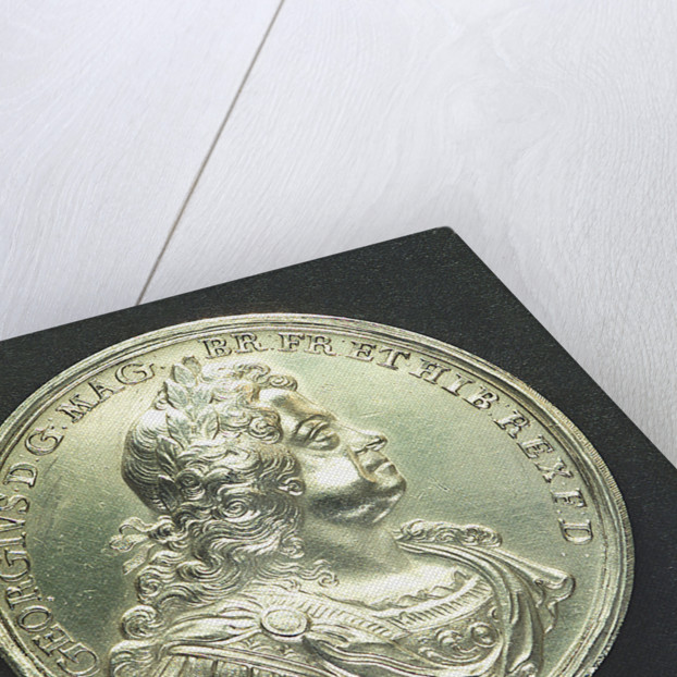 Medal commemorating the action off Cape Passaro, 1718; obverse by J. Croker