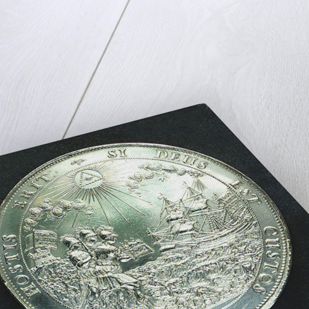 Medal commemorating the landing of King Charles II at Dover, 1660; reverse by J. Roettier