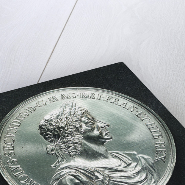 Medal commemorating the Battle of Lowestoft, 1665; obverse by J. Roettier