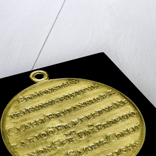 Medal commemorating Admiral Edward Montagu, 1st Earl of Sandwich (1625-1672); reverse by T. Simon