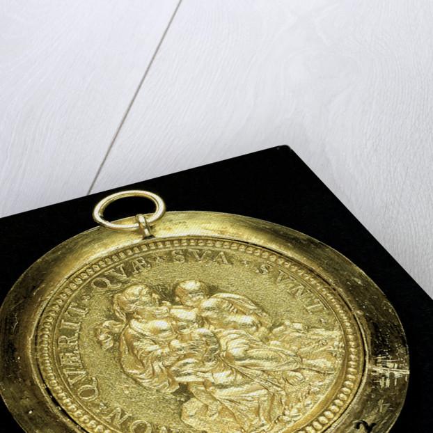 Papal reward medal commemorating Pope Innocent XI; reverse by Hameranus