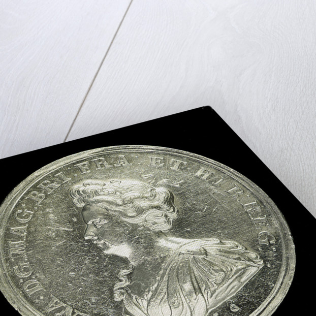 Medal commemorating the capture of Gibraltar and action off Malaga, 1704; obverse by John Croker
