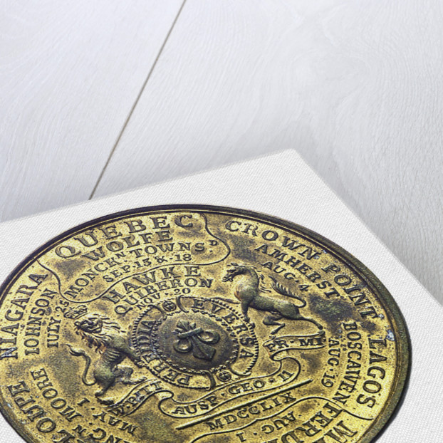 Medal commemorating the British victories of 1759; reverse by unknown