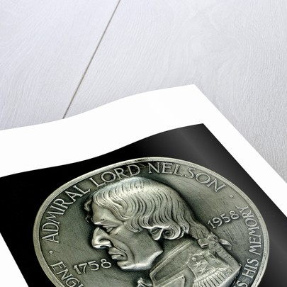 Medal commemorating the 200th anniversary of the birth of  Vice-Admiral Horatio Nelson, 1958; obverse by Paul Vincze