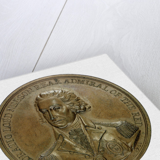 Medal commemorating the Battle of the Nile, 1798; obverse by J.G. Hancock