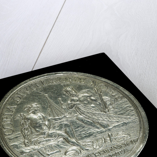 Medal commemorating the Free British Fishery Society; reverse by J. Kirk
