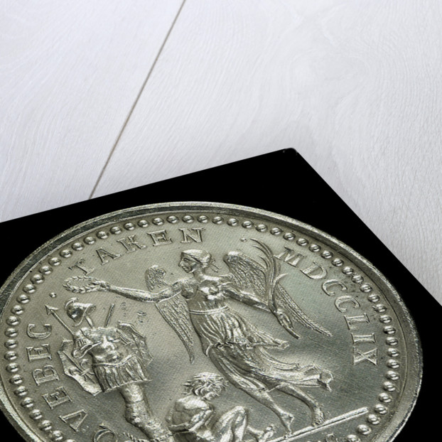 Medal commemorating the capture of Quebec, 1759; reverse by Thomas Pingo