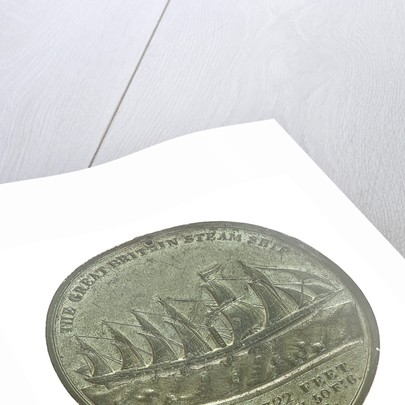 Medal commemorating the SS 'Great Britain'; reverse by E. Avern
