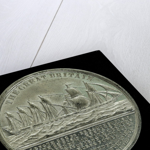 Medal commemorating the SS 'Great Britain'; reverse by J. Davis