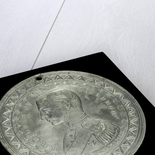 Medal commemorating The Duke of Edinburgh and HMS 'Galatea'; obverse by J. Stokes