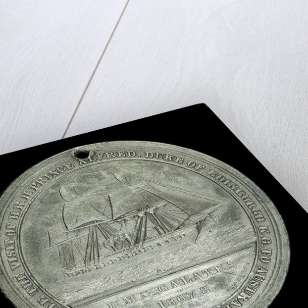 Medal commemorating The Duke of Edinburgh and HMS 'Galatea'; reverse by J. Stokes