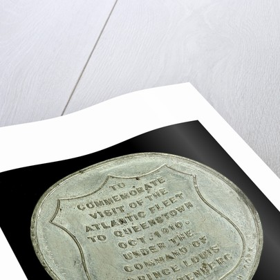 Medal commemorating the visit of the Atlantic fleet to Queenstown, 1910; reverse by J.F. O'Crowley