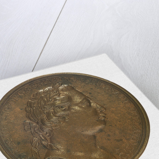 Medal commemorating the 2nd voyage of Captain James Cook, 1772; obverse by W. Barnett