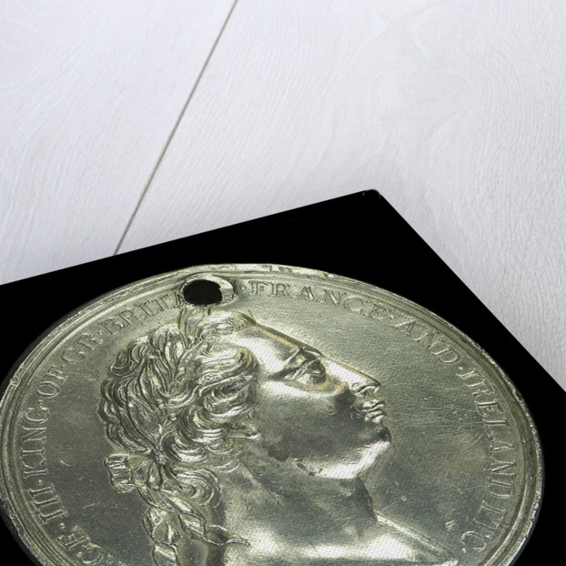 Medal commemorating Captain James Cook's second voyage; obverse by W. Barnett
