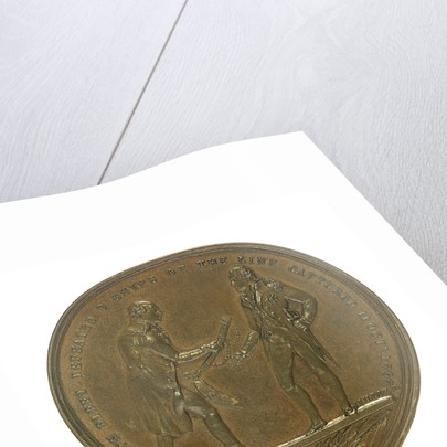 Medal commemorating the Battle of Camperdown, 1797 and Admiral of the Fleet, Adam Duncan (1731-1804); reverse by W. Wyon
