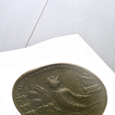 Counter commemorating the loss of Minorca, 1756; obverse by unknown