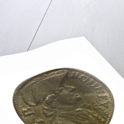 Counter commemorating Admiral George Brydges Rodney (1719-1792) and HMS 'Sandwich'; obverse by unknown