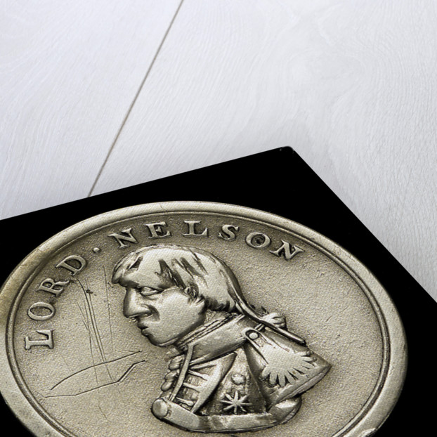 Counter commemorating Vice-Admiral Horatio Nelson (1758-1805) and the Battle of Trafalgar, 1805; obverse by unknown