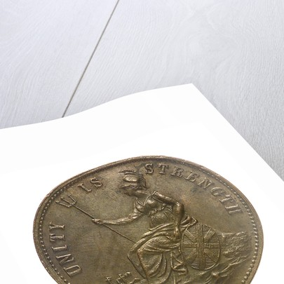 Counter commemorating the London Riggers and Mariners Union; obverse by unknown