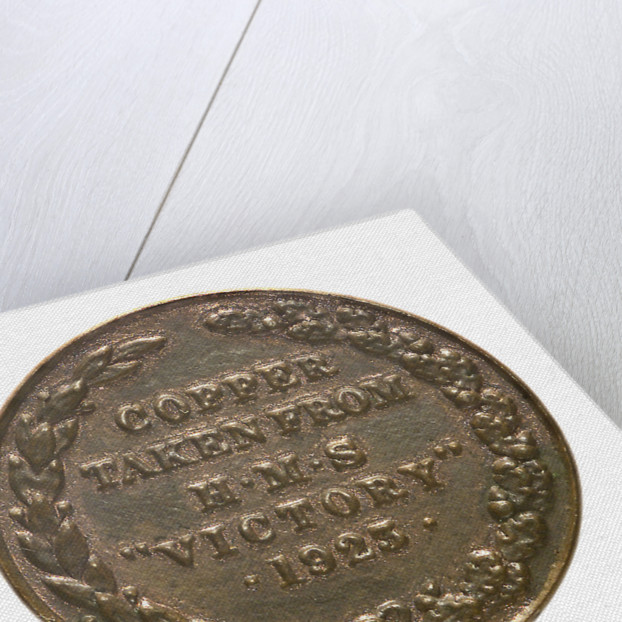 Medalet commemorating the raid on Zeebrugge and Ostend, 1918; reverse by unknown