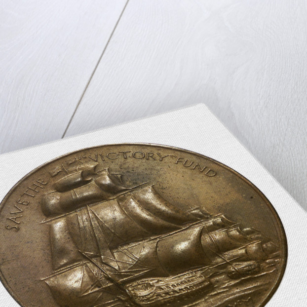 Medalet commemorating Save the 'Victory' Fund; obverse by W. McMillan