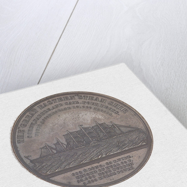 Medal commemorating the SS 'Great Eastern' by J. Moore