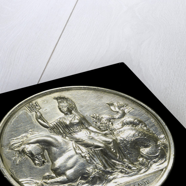 Medal commemorating the battle of Trafalgar, 1805; reverse by W. Wyon
