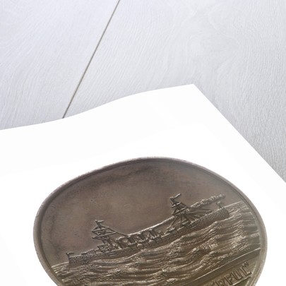Medal commemorating the launch of HMS 'Powerful'; obverse by W.T. Story