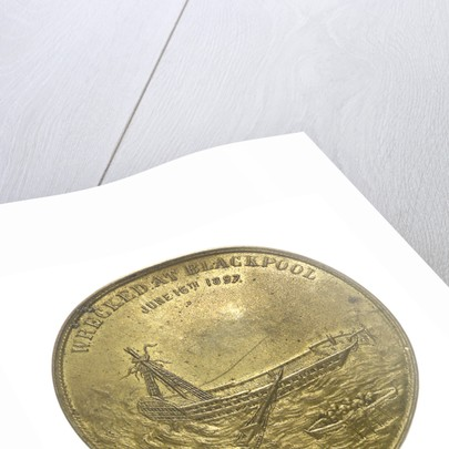 Medal commemorating wreck of HMS 'Foudroyant', 1897; obverse by unknown