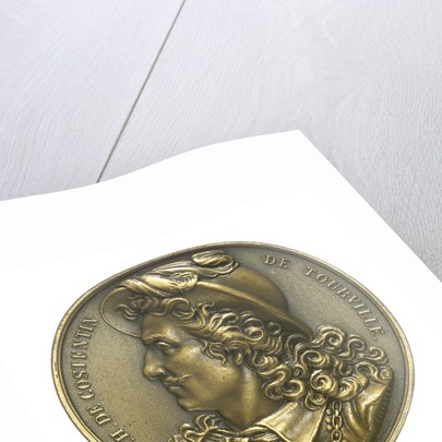 Medal commemorating Admiral de Tourville (1642-1701) and the cruiser 'Tourville'; obverse by J.A. Pingret