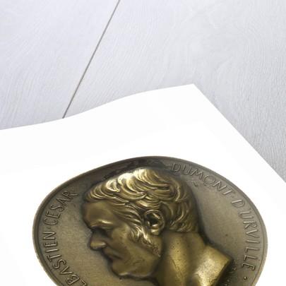 Medal commemorating Admiral Jules Sébastien César Dumont d'Urville (1790-1840) and the colonial destroyer 'Dumont d'Urville' by E.A. Oudin
