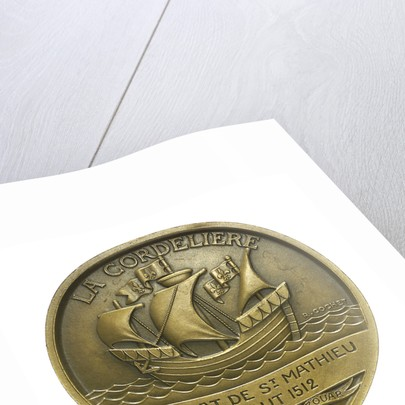 Medal commemorating La Cordeliere and the cruiser 'Primauguet'; obverse by R. Cochet