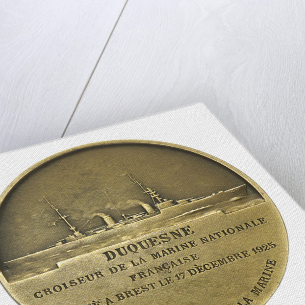 Medal commemorating Vice-Admiral Abraham Duquesne (1610-1688) and the cruiser 'Duquesne'; reverse by J.F. Domard
