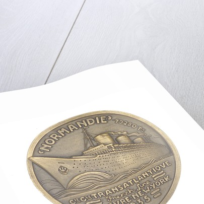 Medal commemorating the SS 'Normandie' by J. Vernon