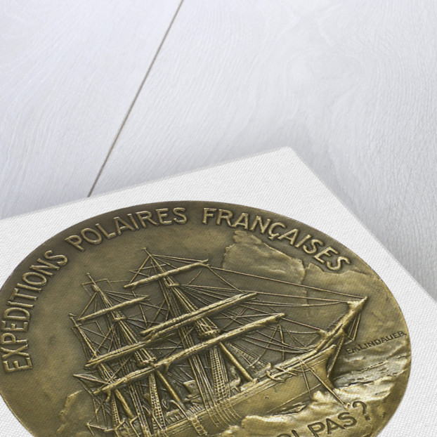 Medal commemorating Jean Baptiste Charcot (1867-1936) and the 'Pourquoi Pas'; reverse by Paul Richer