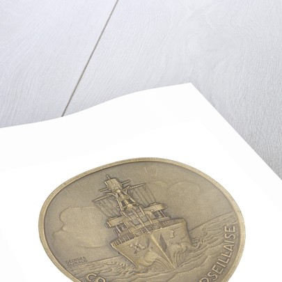 Medal commemorating the cruiser 'Marseillaise' by G. Guiraud