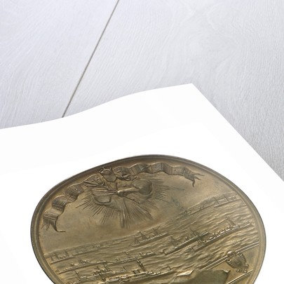 Medal commemorating the SS 'Rotterdam' and the Kiel Canal; reverse by B. Veth