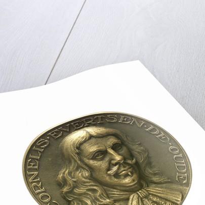 Medal commemorating Admiral Cornelis Evertsen de Oude (1610-1666); obverse by J.J. van der Goor