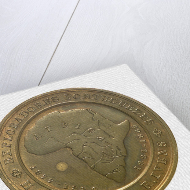 Medal commemorating H. Capello and R. Iveus, Portuguese Explorers; obverse by unknown