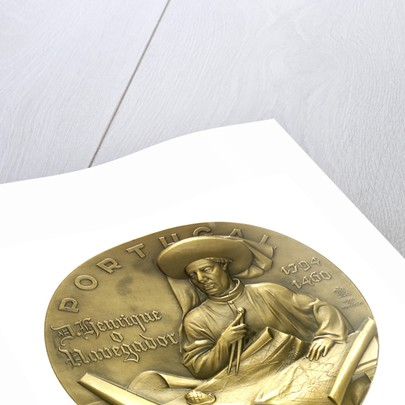 Medal commemorating the 5th centenary of the death of Henry the Navigator, 1960; obverse by J. da Silva