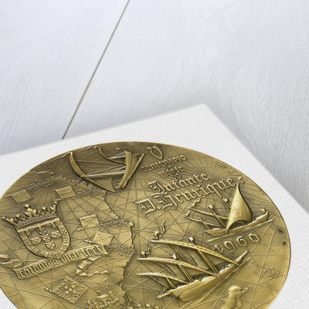 Medal commemorating the 5th centenary of the death of Henry the Navigator, 1960; reverse by J. da Silva