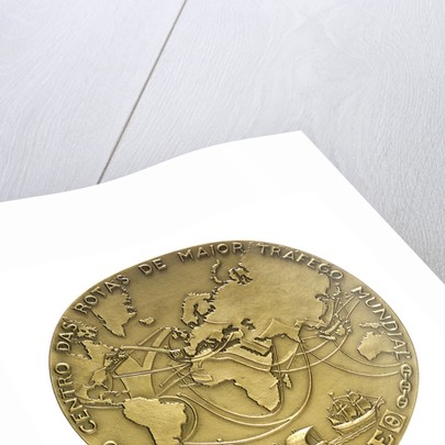 Medal commemorating the opening of the Lisbon dry dock, 1967; reverse by Leopoldo de Almeida
