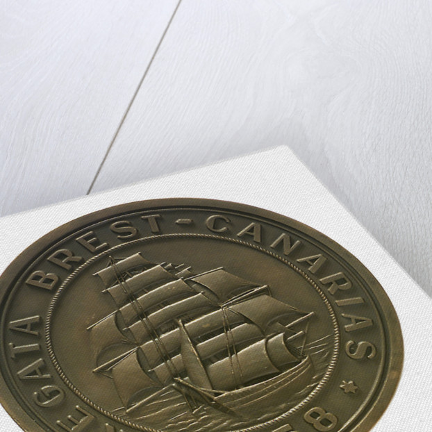 Medal commemorating the Brest-Canaries race, 1958; obverse by unknown