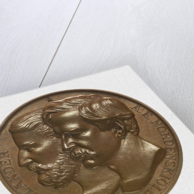 Medal commemorating the first navigation of the North East Passage, 1879; obverse by Lea Ahlborn